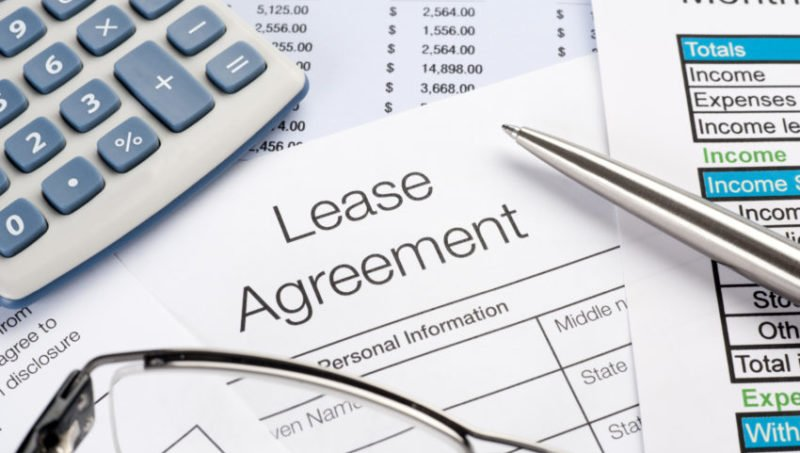 background image of lease agreement